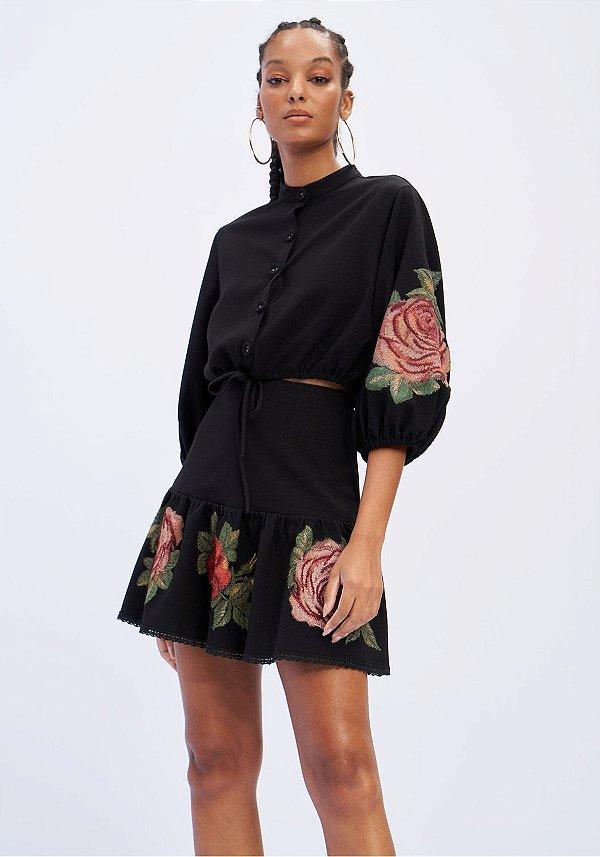 Conjunto Saia Curta E Camisa Cropped Lança Perfume