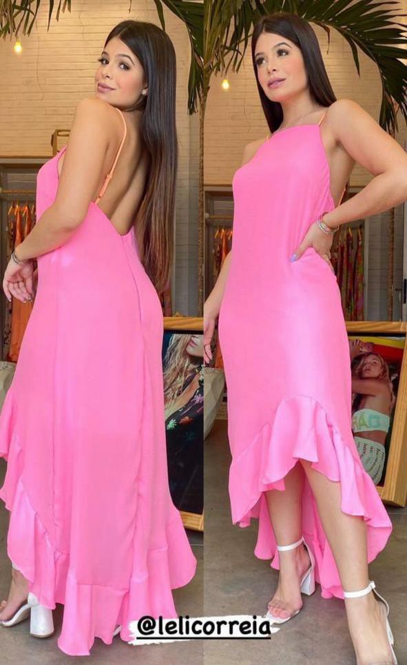 Vestido Longuete De Alça Leli Correia