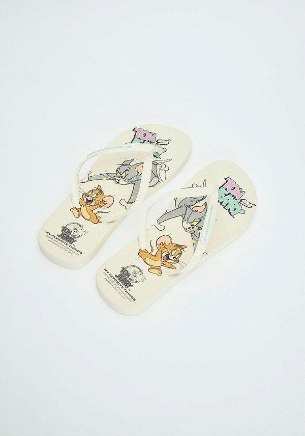 Chinelo Tom & Jerry Off White MYFT