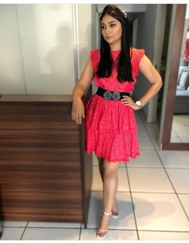 Vestido Renda Pink Dress Lou Bucca