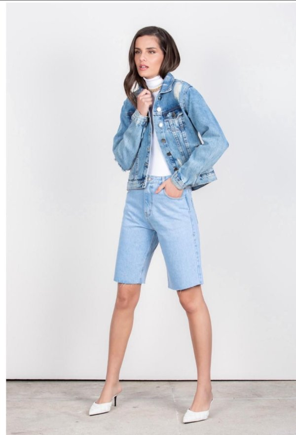 Bermuda Jeans Claro Leblog