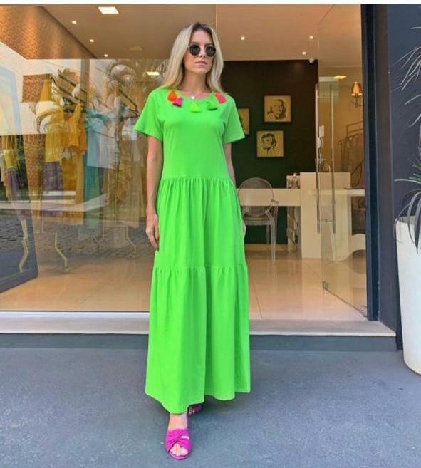 Vestido  Camisão Bardoh Verde