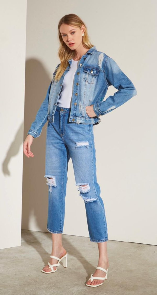 Calça Jeans Detonada Danni Leblog
