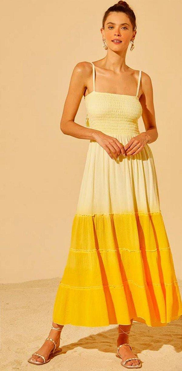 Vestido Kelly Tyedye Ombrê Com Lastex Leblog