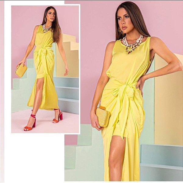 Vestido Pareô Gio amarelo Boudoir