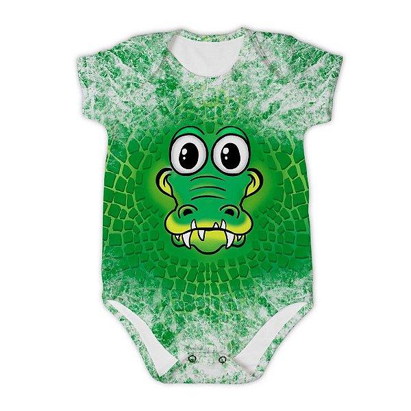 Body Bebê Manga Curta Jacaré