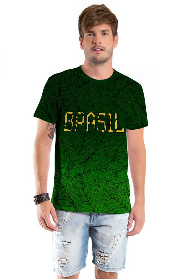Camiseta Básica Adulto Brasil Verde