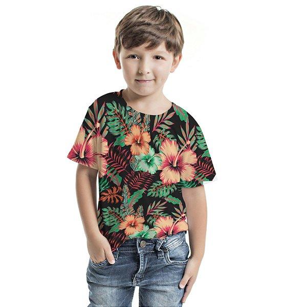 Camiseta Básica Infantil Flower