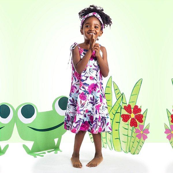 Vestido Curto Amora Infantil Floral