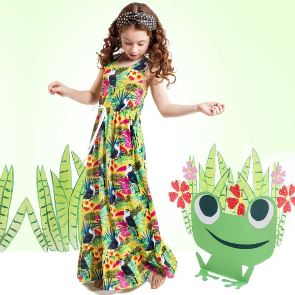 Vestido Longo Nina Infantil Tucano