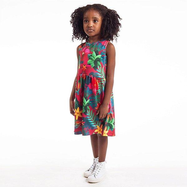 Vestido Tutti-Fruti Infantil Floral Color