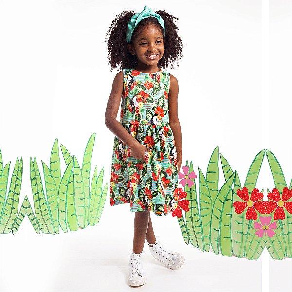 Vestido Tutti-Fruti Infantil Tucano Tropical