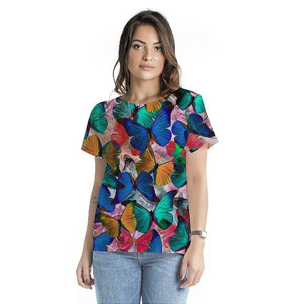 Blusa Atena Borboletas Coloridas