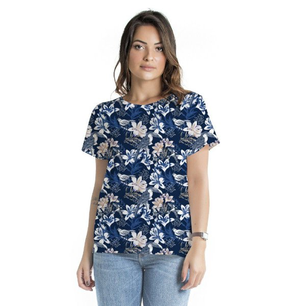 Blusa Atena Floral Azul