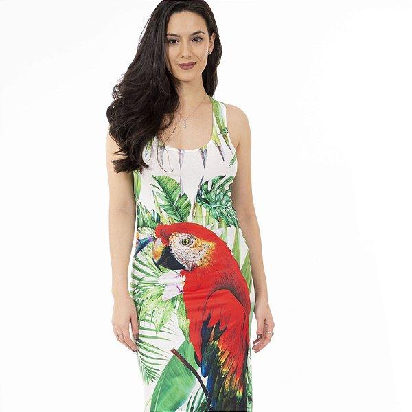 Vestido Longo Tulipa Arara Frontal