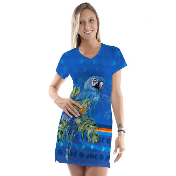 Vestido Curto Vanilla Azul Arara