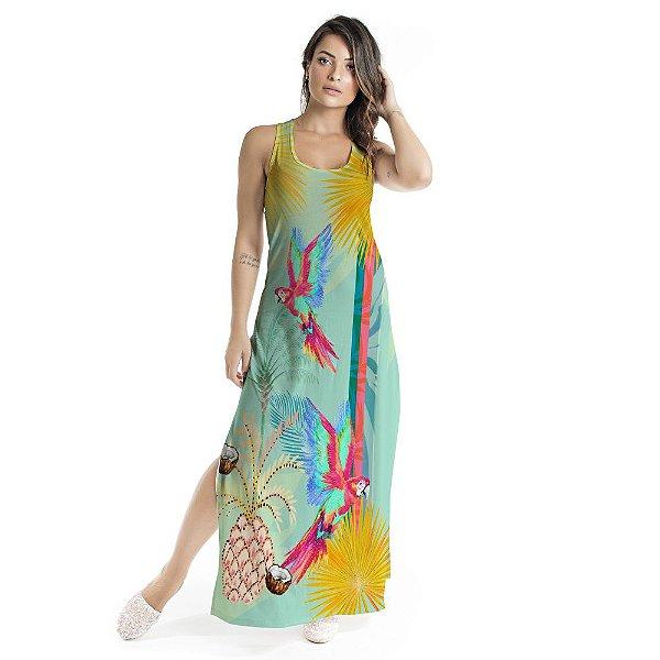 Vestido Longo Tulipa Abacaxi