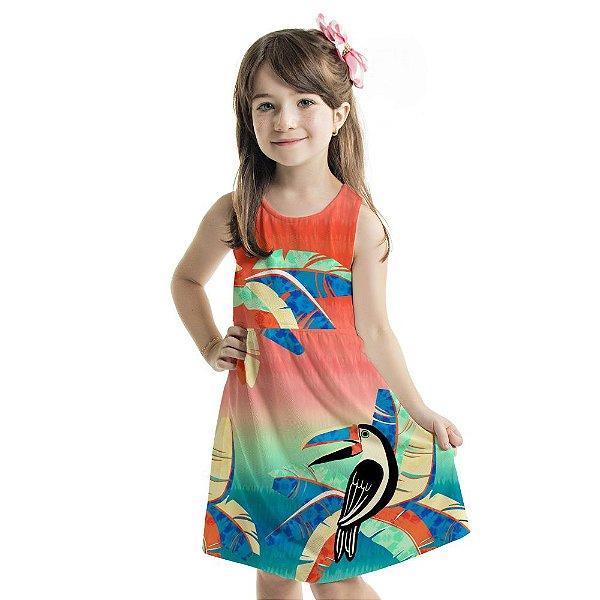 Vestido Tutti-Fruti Infantil Tucano Estilizado
