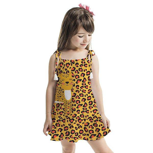 Vestido Curto Amora Infantil Oncinha