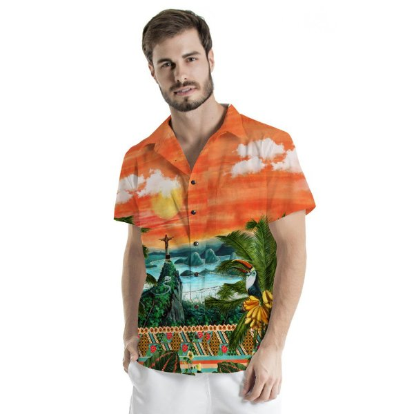 Camisa de Botão Adulto Rio de Janeiro