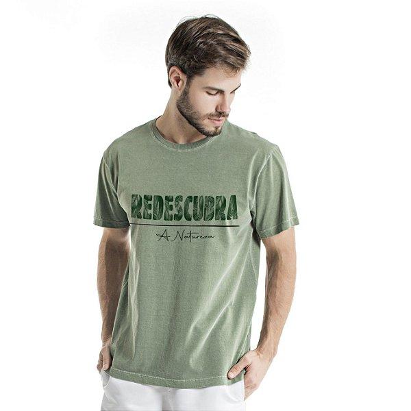 Camiseta de Algodão Estonada Verde Redescubra