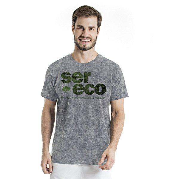 Camiseta de Algodão Estonada Cinza Sky Ser Eco