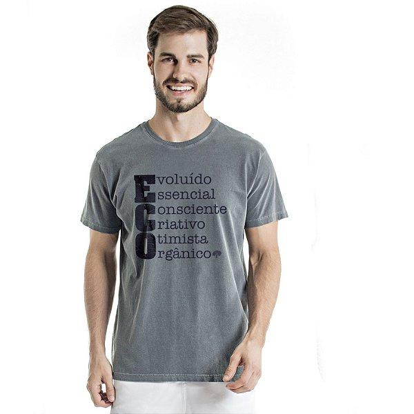 Camiseta de Algodão Estonada Chumbo Eco