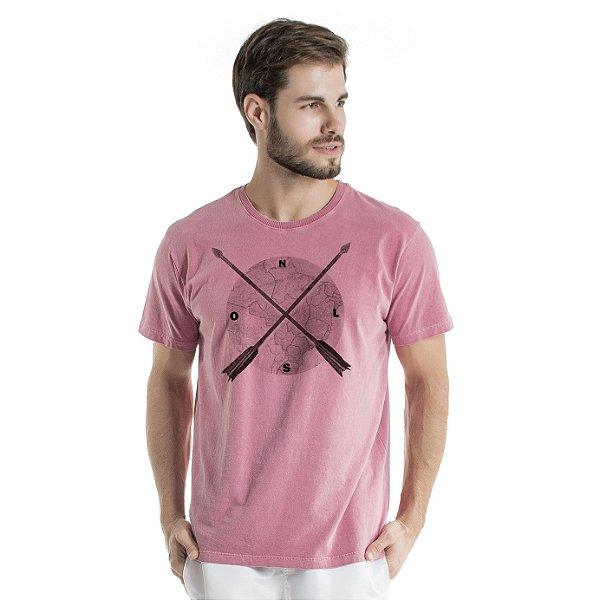 Camiseta de Algodão Estonada Vinho Direção