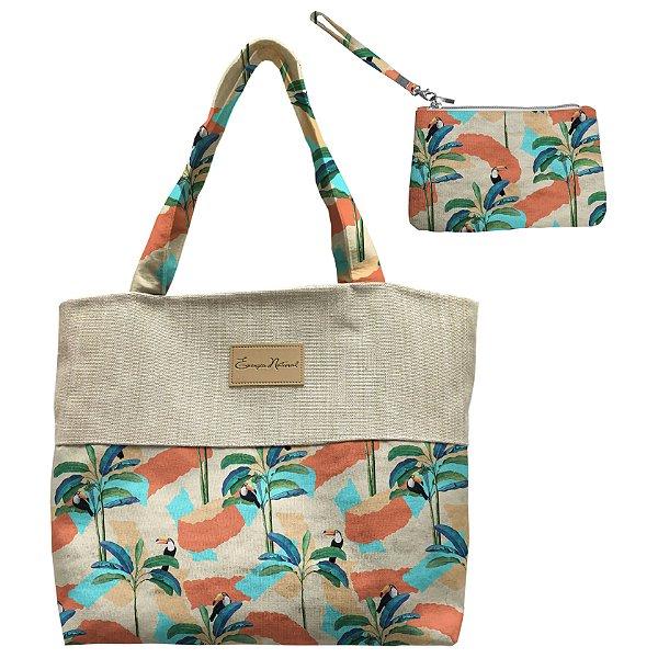 Bolsa Eco Desenhos e Tucanos