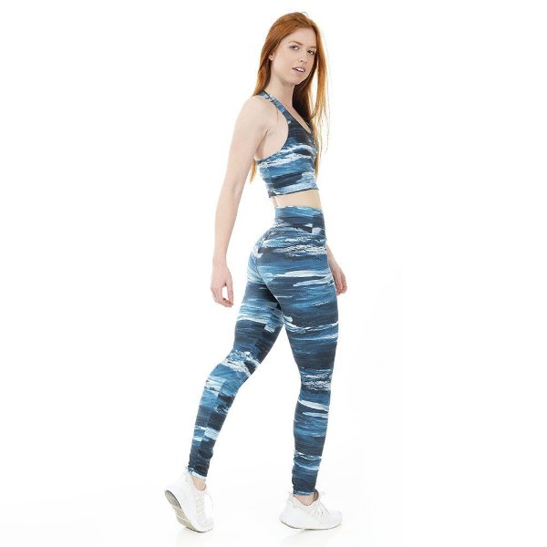 Calça Legging Feminina Ocean Azul