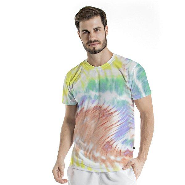 Camiseta Básica Adulto Tie Dye Vibes