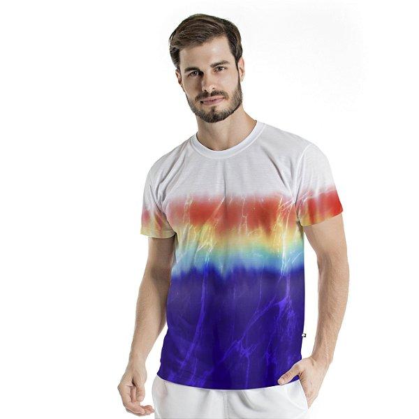 Camiseta Básica Adulto Tie Dye Degradê