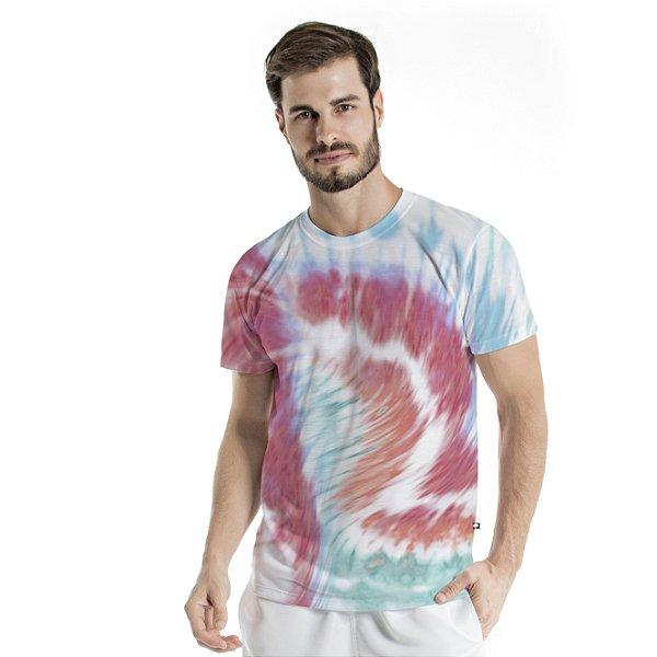 Camiseta Básica Adulto Tie Dye Berry