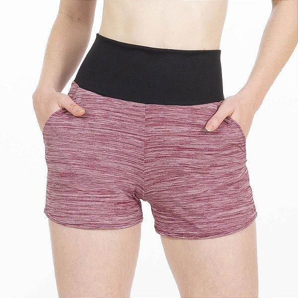 Shorts Fitness Cós Alto Vermelho