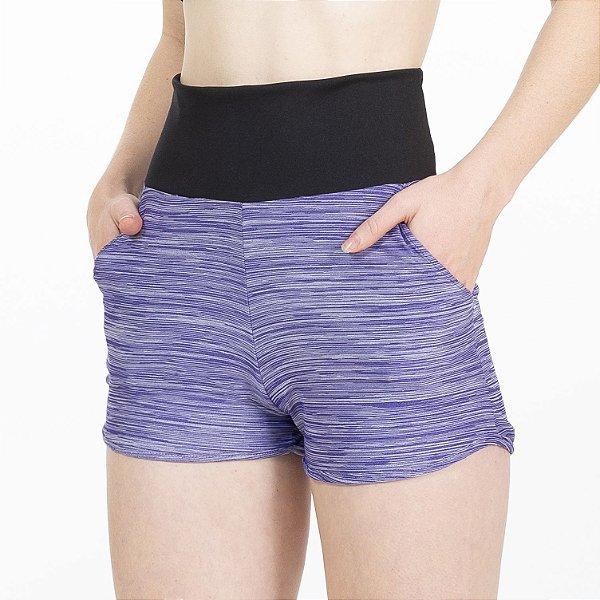 Shorts Fitness Cós Alto Roxo