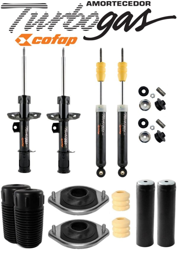Kit 4 Amortecedor Cofap Turbogas Prisma 2007 a 2012 e Kit do Amortecedor