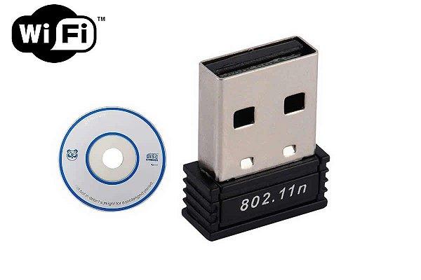 Adaptador De Rede Sem Fio Receptor Wifi Wireless Usb 150mbps