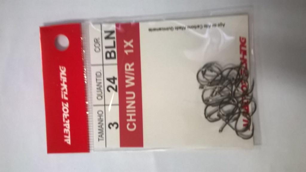 ANZOL CHINU W/R 1X -BLACK C/24PÇS - ALBATROZ