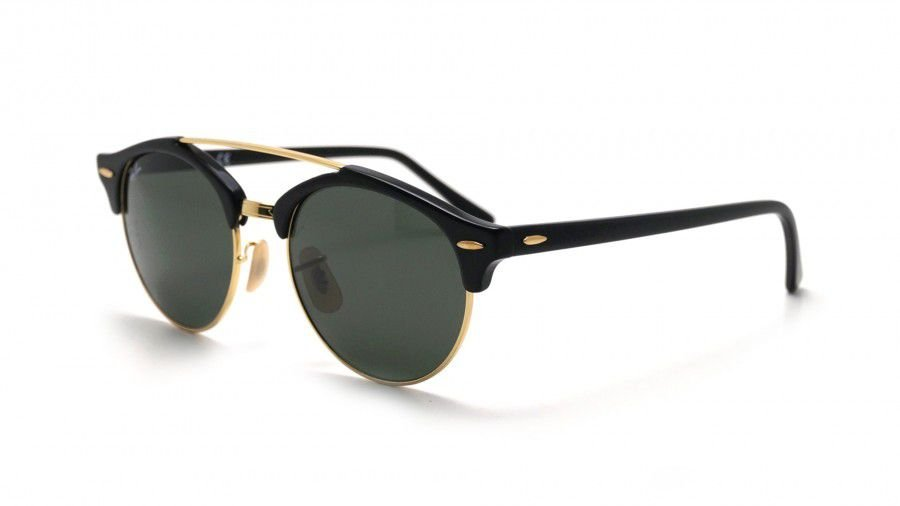 Óculos de Sol Ray-Ban Clubround Double Bridge Preto