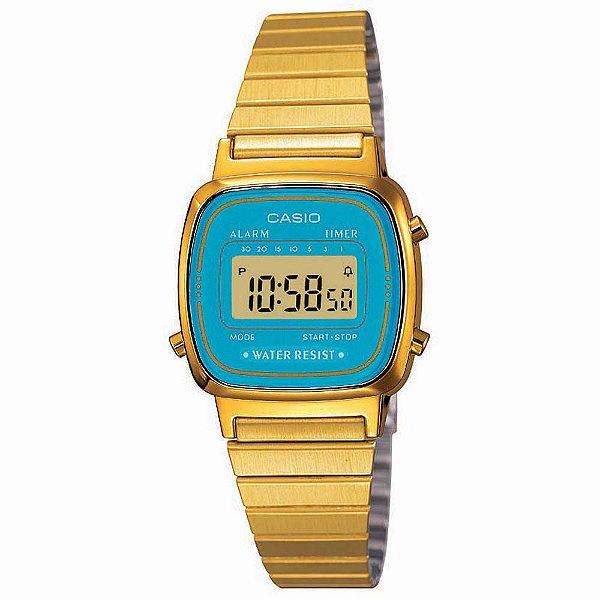 Relógio Casio Vintage Feminino - LA670WGA-2DF