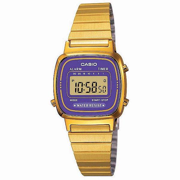 Relógio Casio Vintage Feminino - LA670WGA-6DF