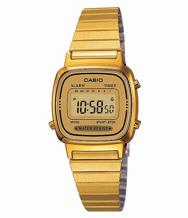 Relógio Casio Vintage Feminino - LA670WGA-9DF