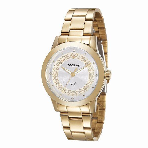 Relógio Seculus Long Life Feminino - 20252LPSVDA1