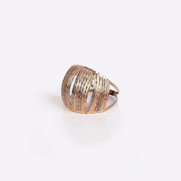 Anel Tricolor Fosco - Ouro 18K