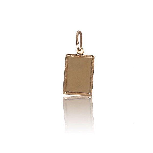 Pingente com Detalhe Fosco (Chapinha) -  Ouro 18K