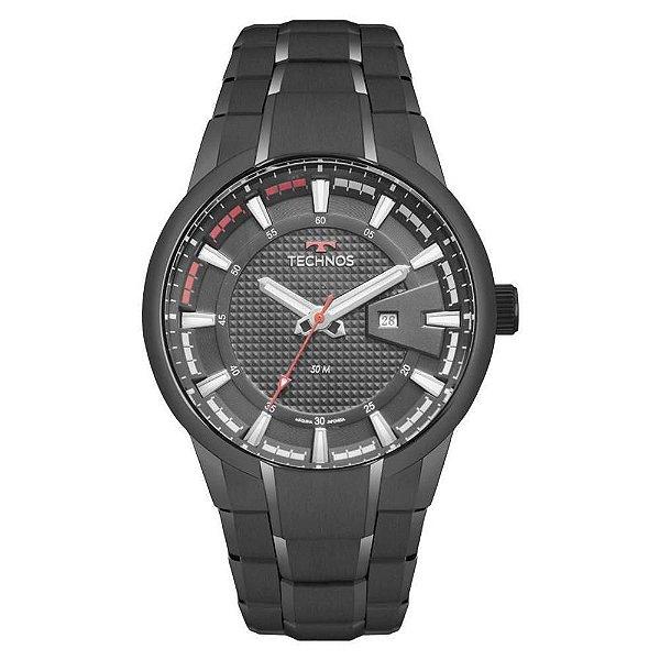 Relógio Technos Masculino Preto Performan Racer - 2117LAW/4P