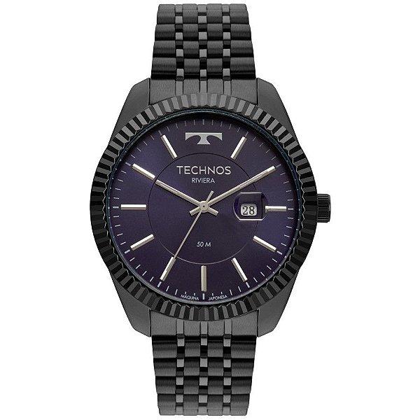 Relógio Technos Masculino Preto Classic Riviera - 2115MSV/4A