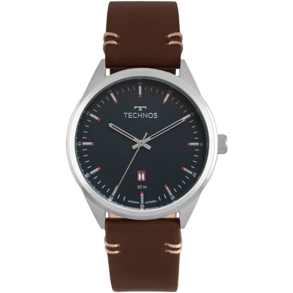 Relógio Technos Masculino Prateado Classic Steel - 2115MSC/0A
