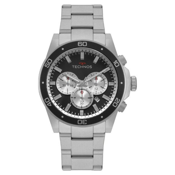 Relógio Technos Masculino Prateado Cronógrafo - JS25BY/1P