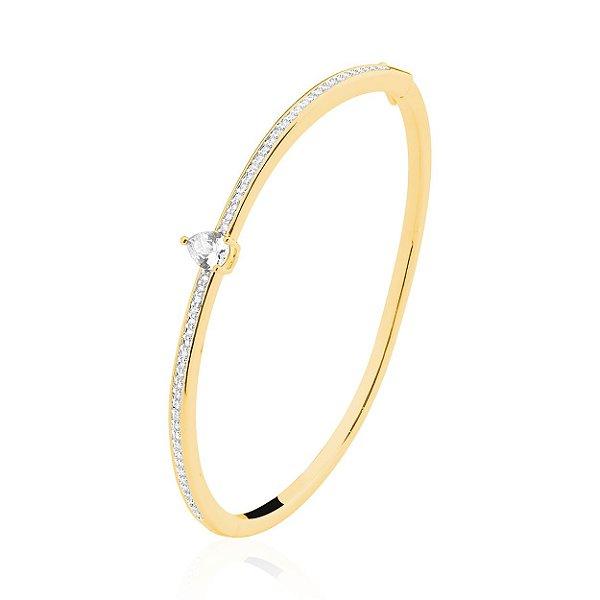 Bracelete Gota Folheado a Ouro 18K